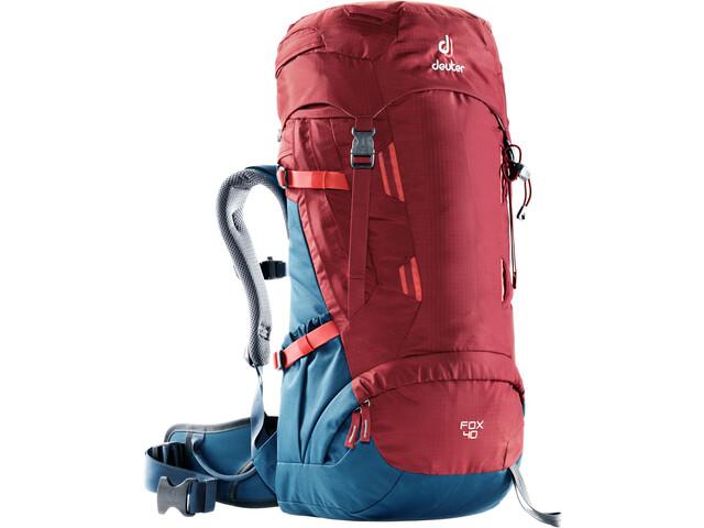 Deuter Fox 40 Backpack Barn cranberry-steel